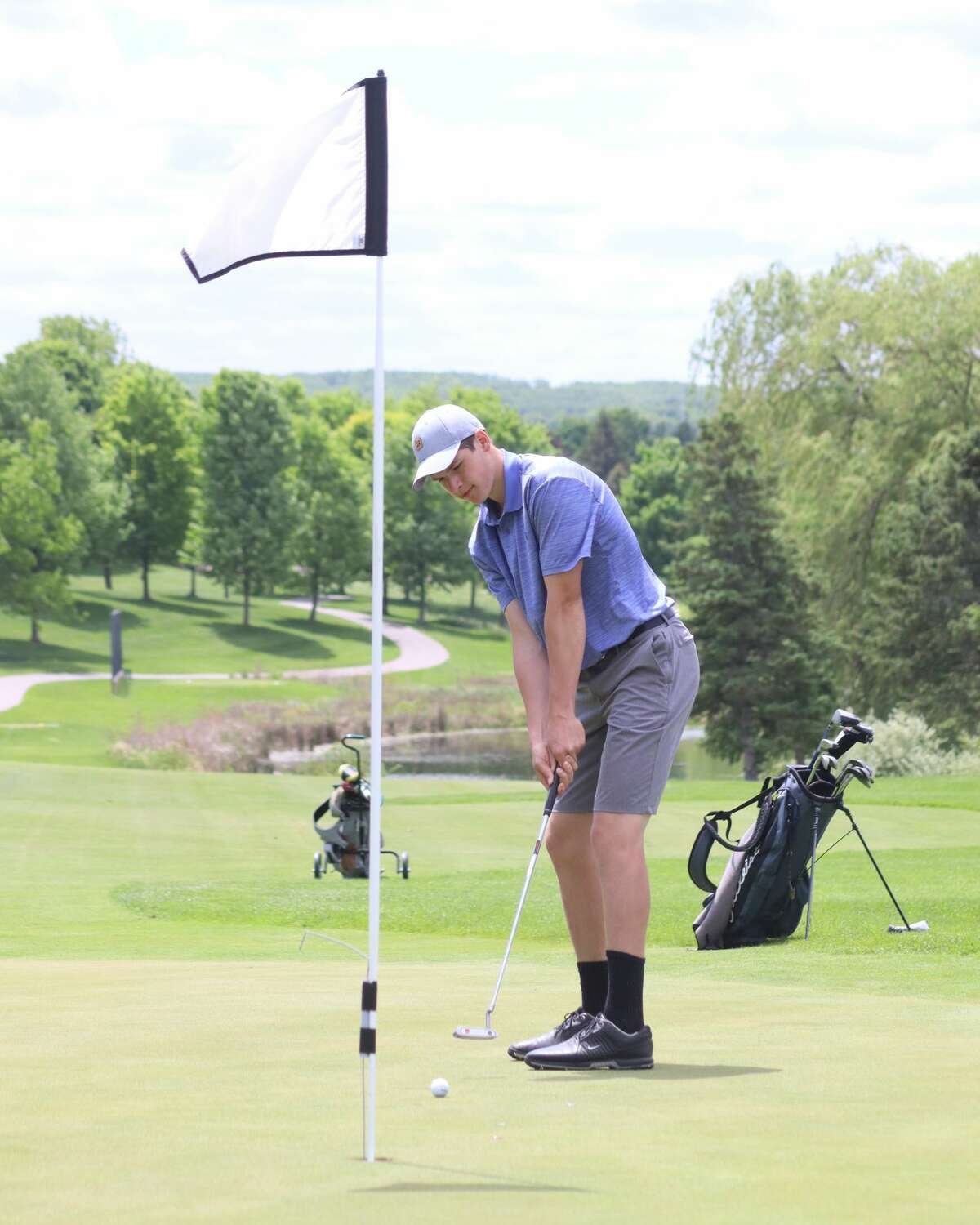 Benzie Central and Frankfort compete at the conference championship golf match on May 26 at Grand Traverse Resort.