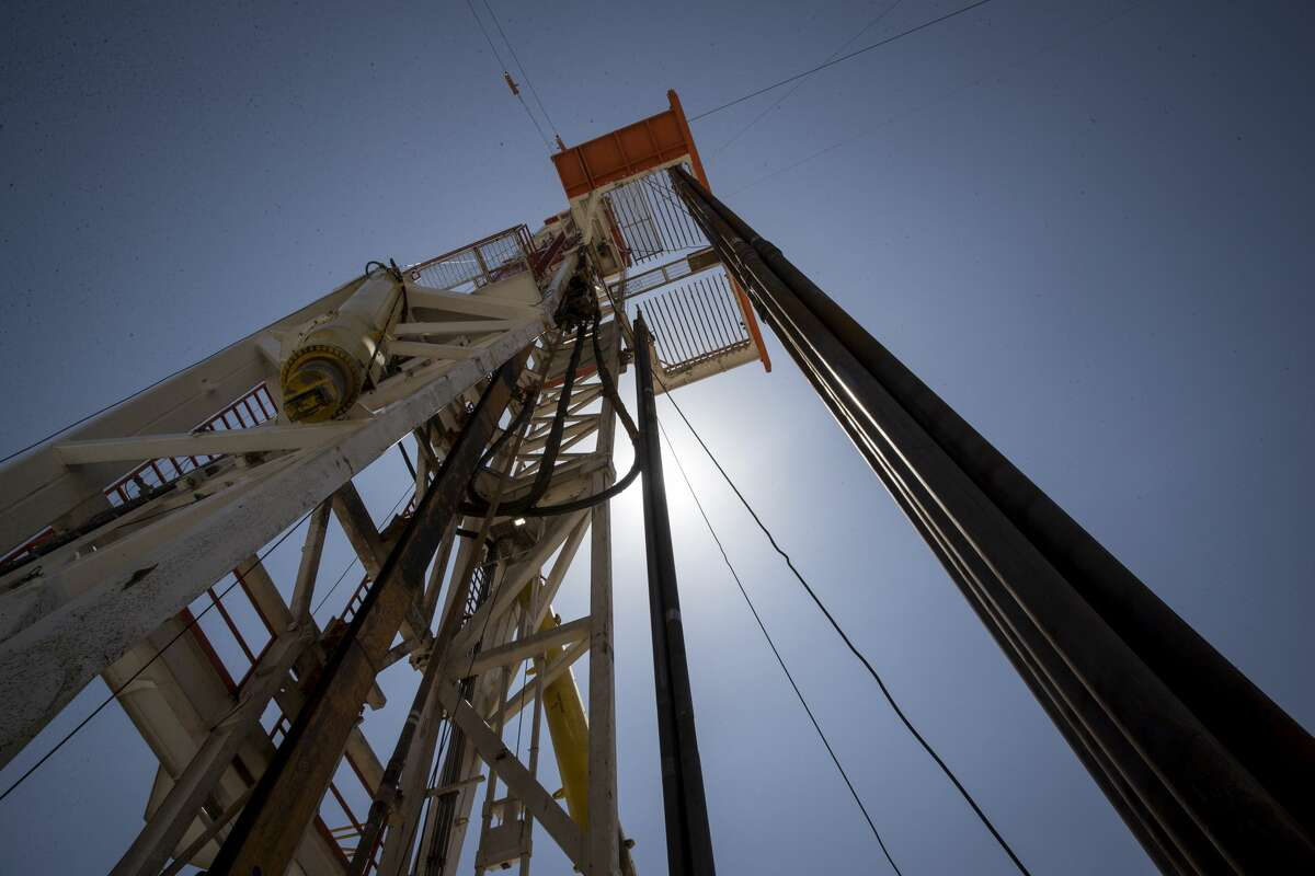 A rig drills a well near Malaga, New Mexico in this 2019 file photo.