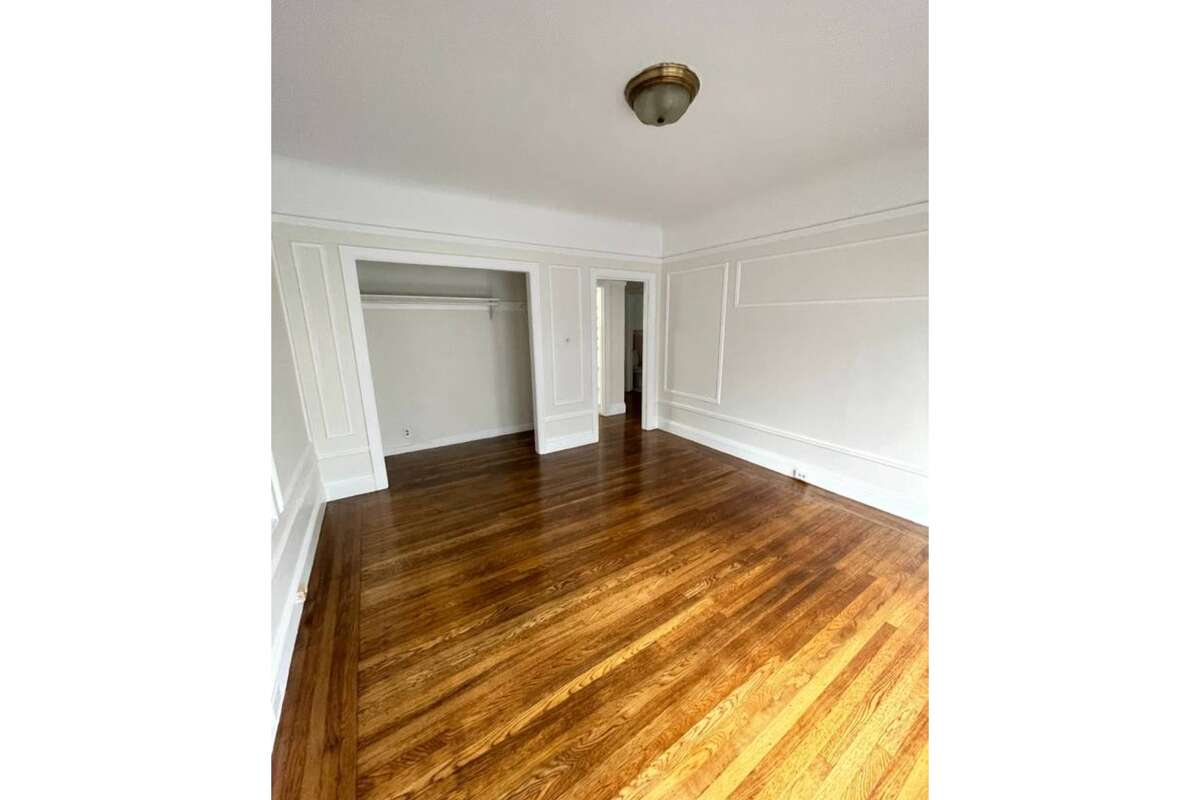 It's the front unit in a four-unit building built in 1923. The best part may be that there is lots of storage - there are four large closets total, including two walk-ins. There are high ceilings and hardwood floors throughout the apartment.