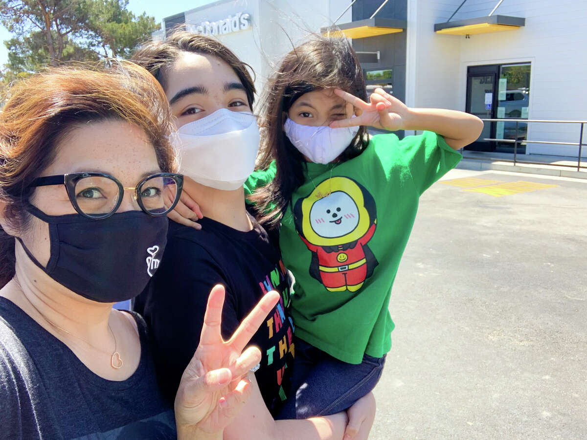 Valerie Villaraza-Steele and family went to a McDonalds in Alameda on Wednesday, March 26, 2021, to celebrate the release of the limited-time offer BTS meal.