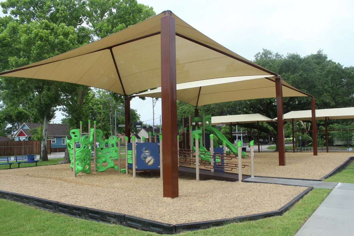 The City of Humble upgraded the playground equipment and canopies at Hirsch Memorial Park.