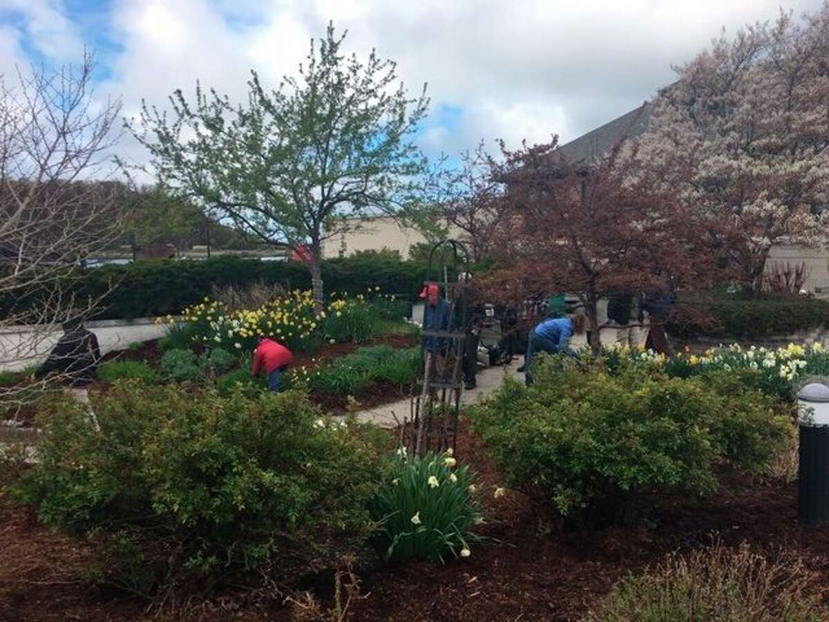 Volunteers from the Frankfort Rotary Club, Periwinkle Garden Club, the United States Coast Guard and members of the public worked hard to get Rotary Park, located in downtown Frankfort, ready for the summer. (Courtesy Photo)