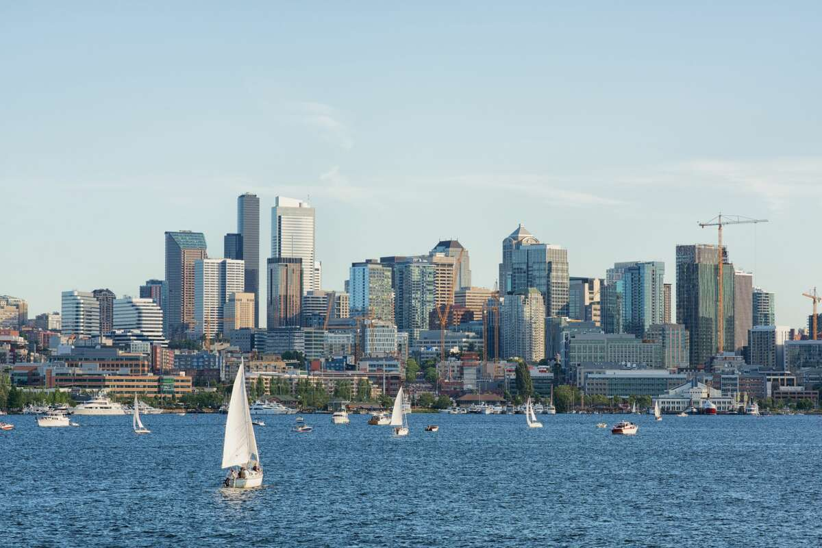View of downtown Seattle from Gas Works Park.