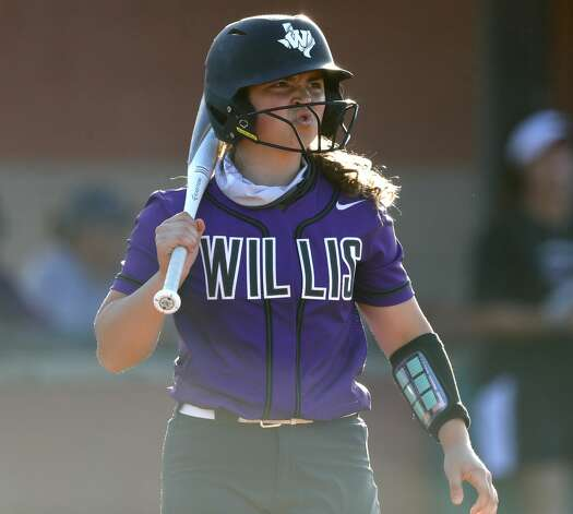 Hannah Hartman #7 of Willis reacts after a strike call during the first inning of a District 13-6A high school softball game at Willis High School, Tuesday, March 23, 2021, in Willis Photo: Jason Fochtman/Staff Photographer / 2021 © Houston Chronicle