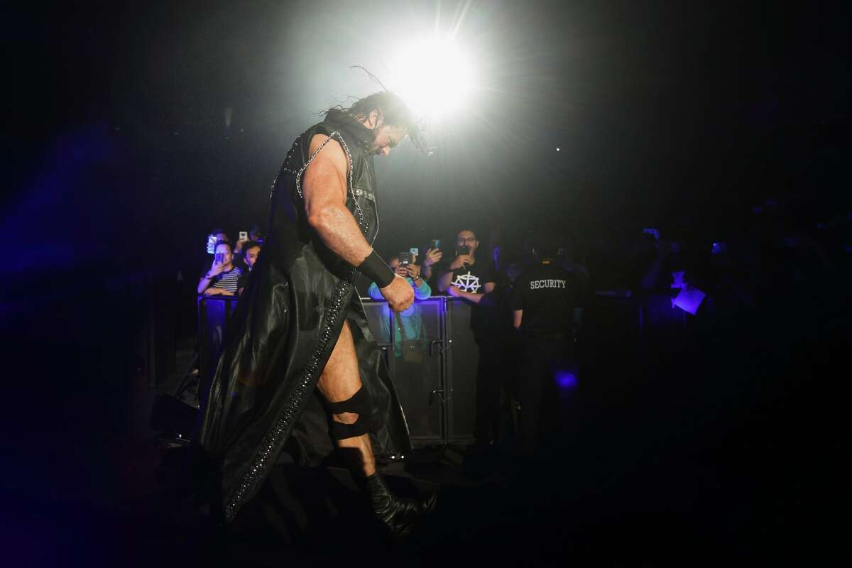 SINGAPORE - JUNE 27: Drew McIntyre enters the ring during the WWE Live Singapore at the Singapore Indoor Stadium on June 27, 2019 in Singapore. (Photo by Suhaimi Abdullah/Getty Images for Singapore Sports Hub)