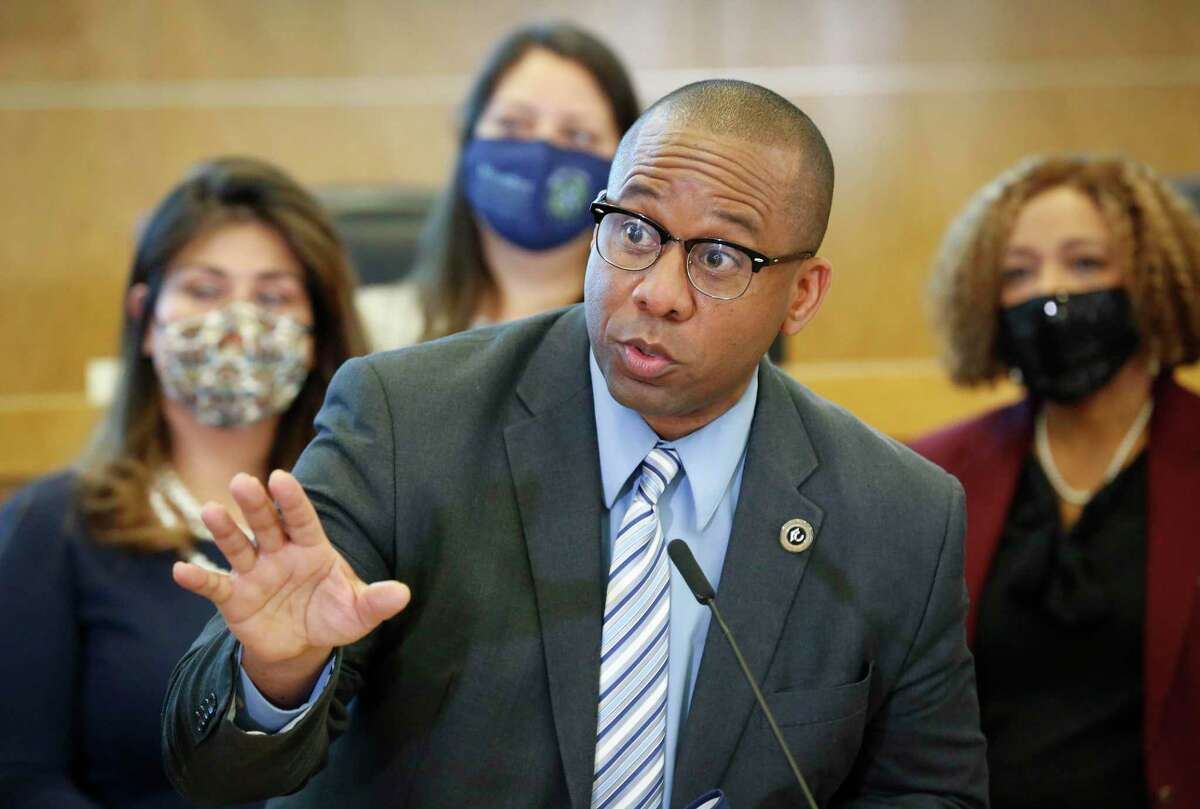 Houston ISD lone superintendent finalist Millard House II, pictured on May 21, will arrive in Houston with no significant local connections and a modest resume by big-city standards, but former colleagues and collaborators say he will bring a calming presence to a district needing stability.