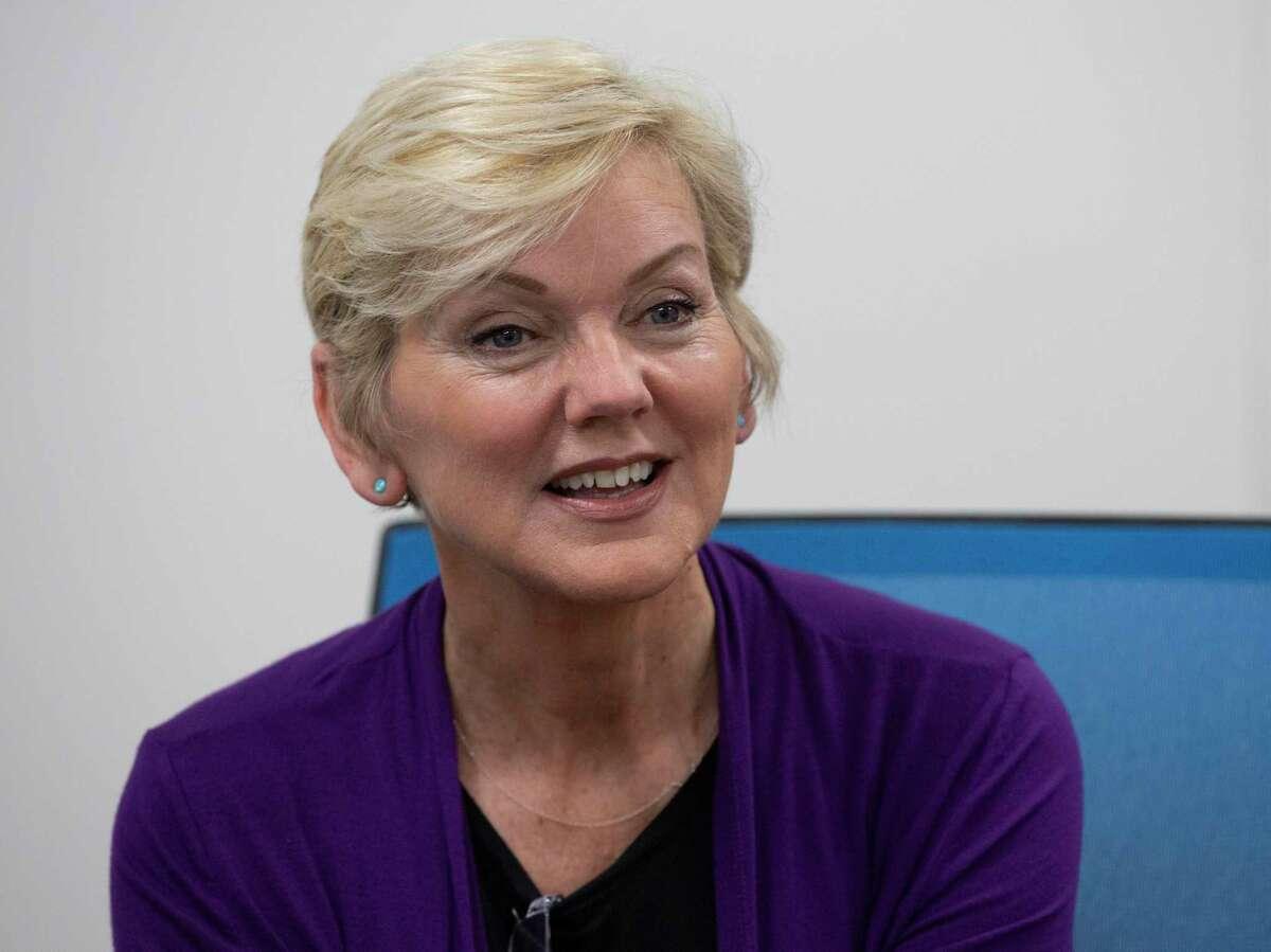U.S. Secretary of Energy Jennifer M. Granholm meets Air Liquide hydrogen facility operation employees Friday, May 28, 2021, in La Porte.