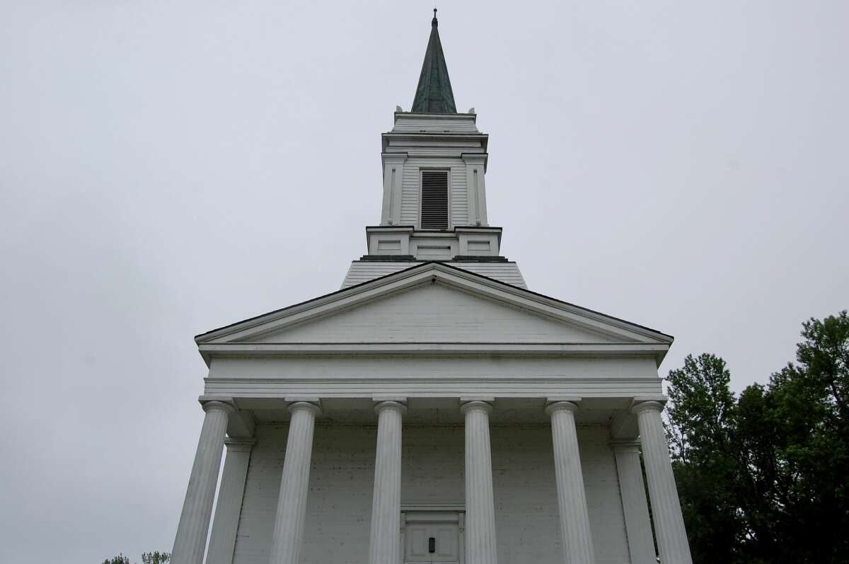 The Benjamin Godfrey Memorial Chapel was moved from its original location in 1991 to the Lewis and Clark Community College campus.