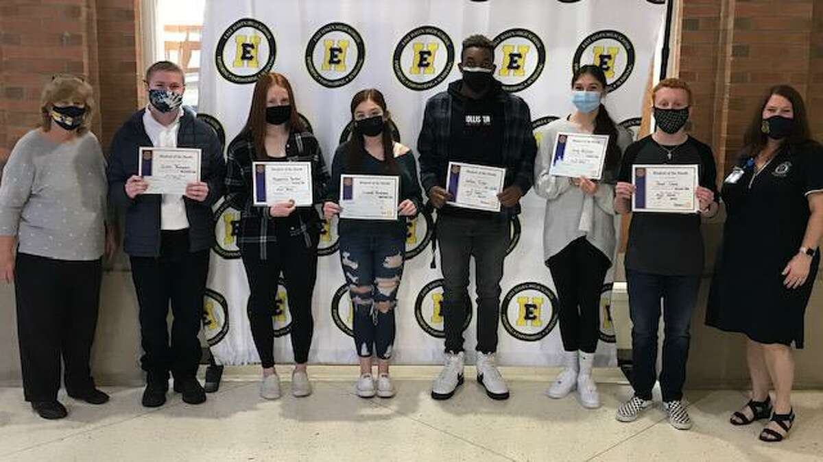 The East Haven Rotary Club recently recognized the most recent Students of the Month for the balance of 2020 and 2021. Prior to the pandemic, the awards were presented several times a year at one of the club's weekly dinner meetings. For everyone's safety, the awardees were given their recognition in the East Haven High School Lobby.