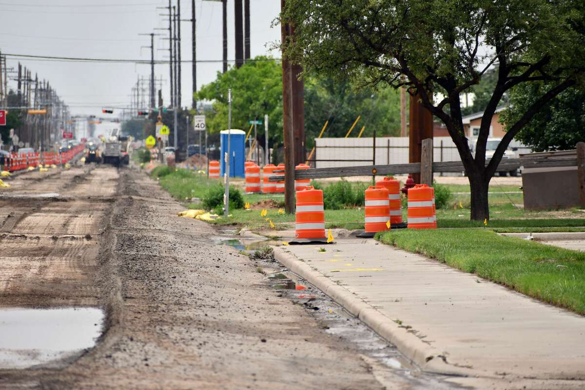 Construction cones are out and construction has officially begun on the reconstruction of 24th Street in Plainview.