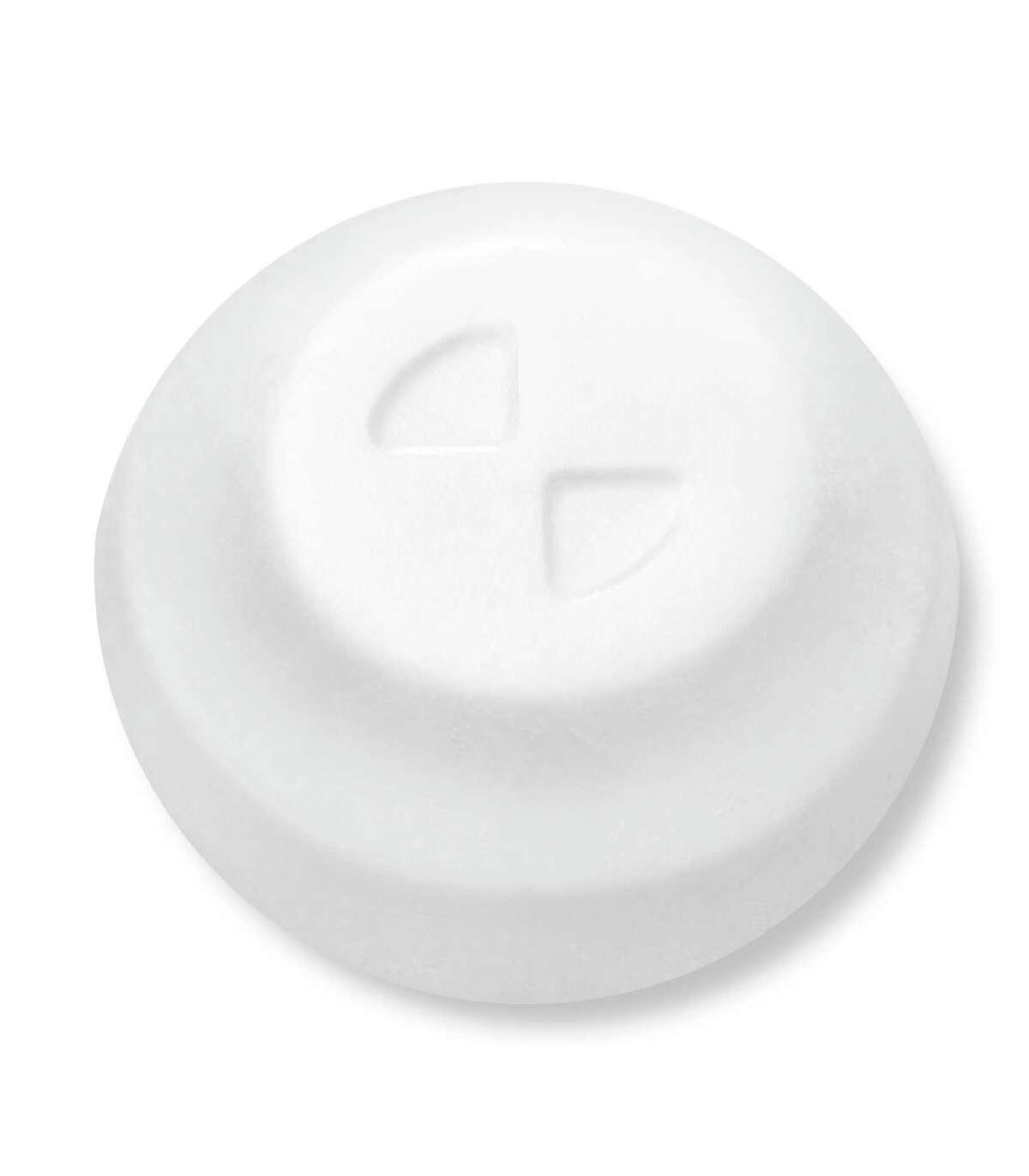 A tablet of Biohaven's migraine drug Nurtec ODT