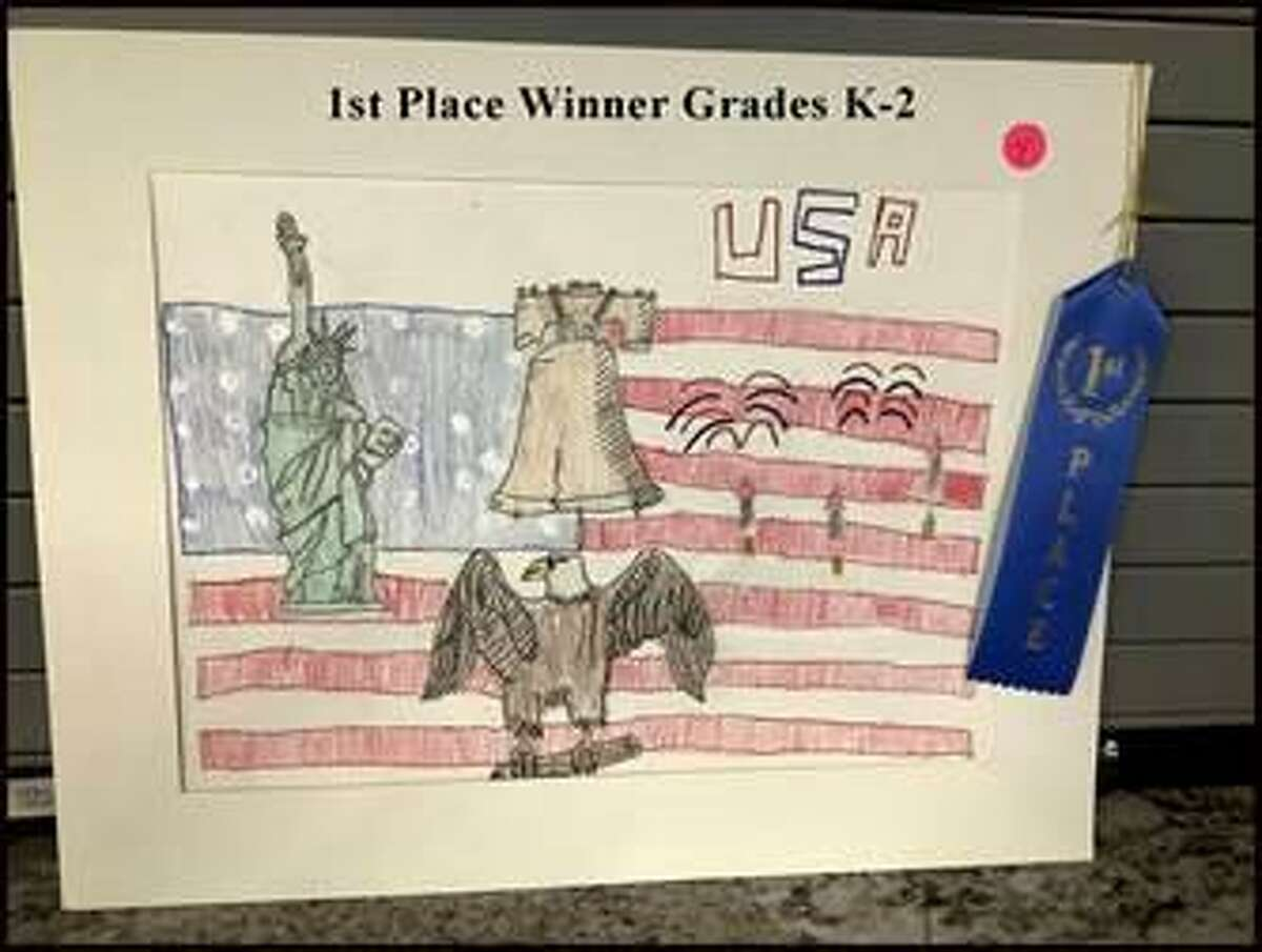 This artwork of Memorial Parkway Elementary first grader Daniel Torres won first place in the Texas Veterans of Foreign Wars Illustrated America contest and is currently being judged for the national contest. Daniel's art teacher is Pedro Castro.