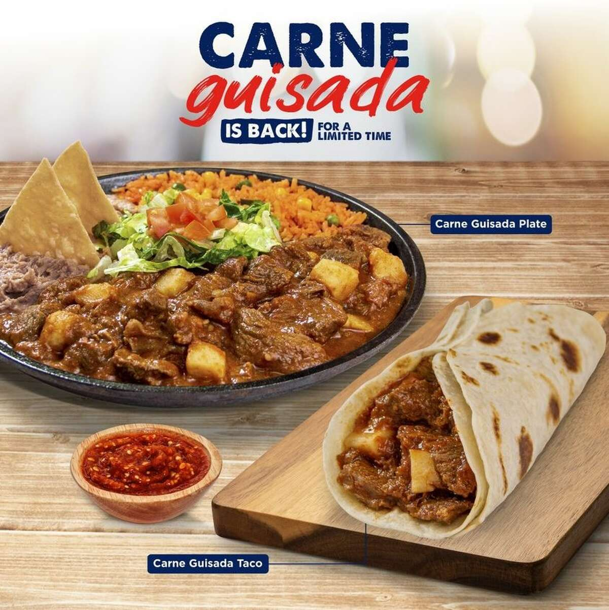 Taco Palenque posted this photo, showing carne guisada sans olives, after hearing feedback from San Antonio.