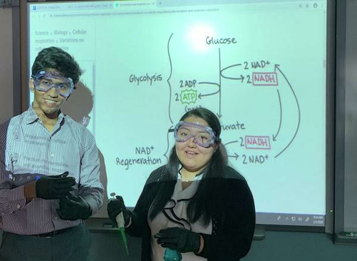 Rithin Armstrong and Lizet Garcia, former Stamford High School students, will see their experiment blast off into space on Thursday, June 3, as part of a NASA-sponsored program.
