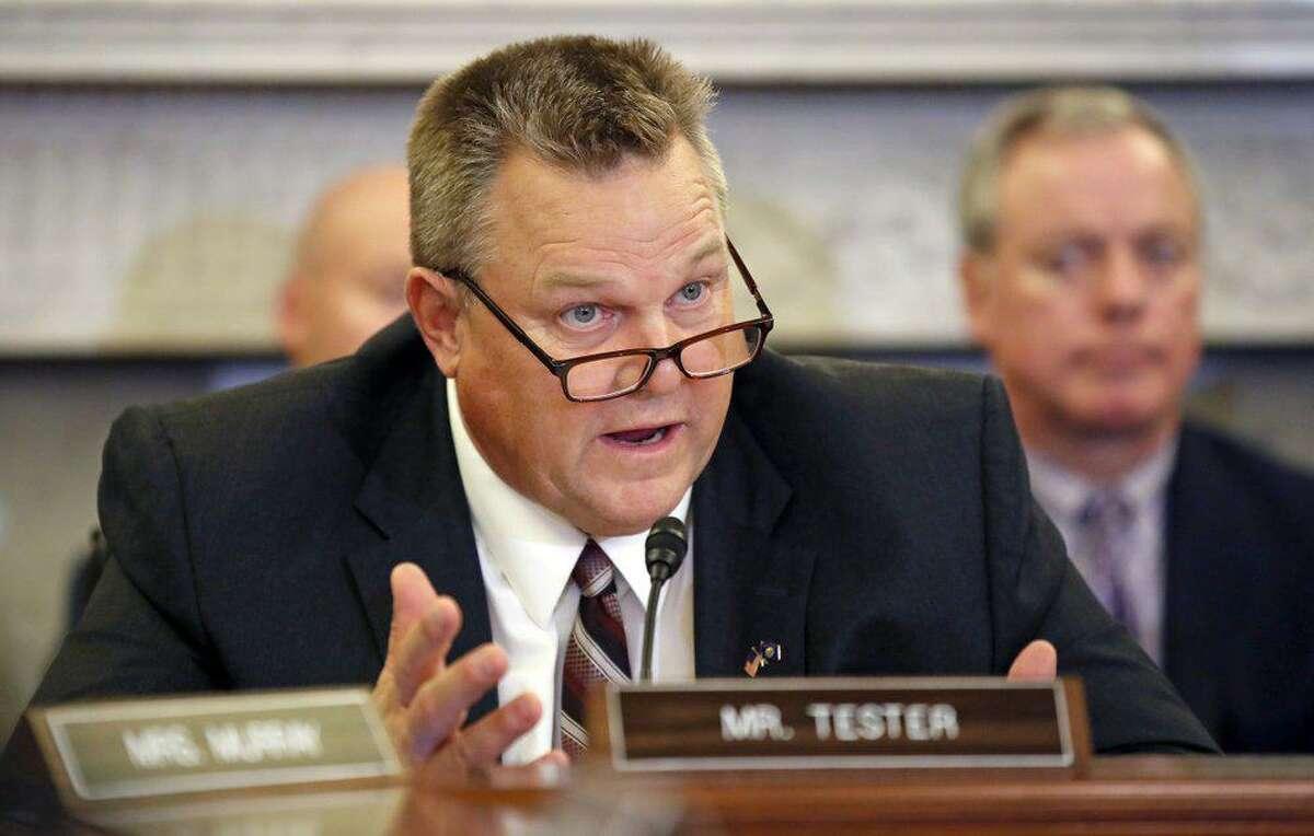 Sept. 26, 2018 file photo. U.S. Sen. Jon Tester, D-Mont., chairman of the Senate Veterans' Affairs Committee.