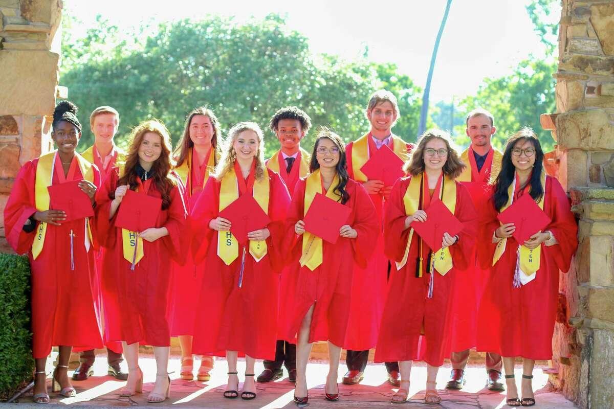 Front row (from left): Sydney Bogan, Elizabeth Dougherty, Kierstyn Hudson, Angelina Covey, Adeline Hamilton, Kirsten Karamihan.Back row (from left): Colby Cummins, Karina Van Marter, Stephen Ozan Jr., Logan Roberts, Ryan Thomas.