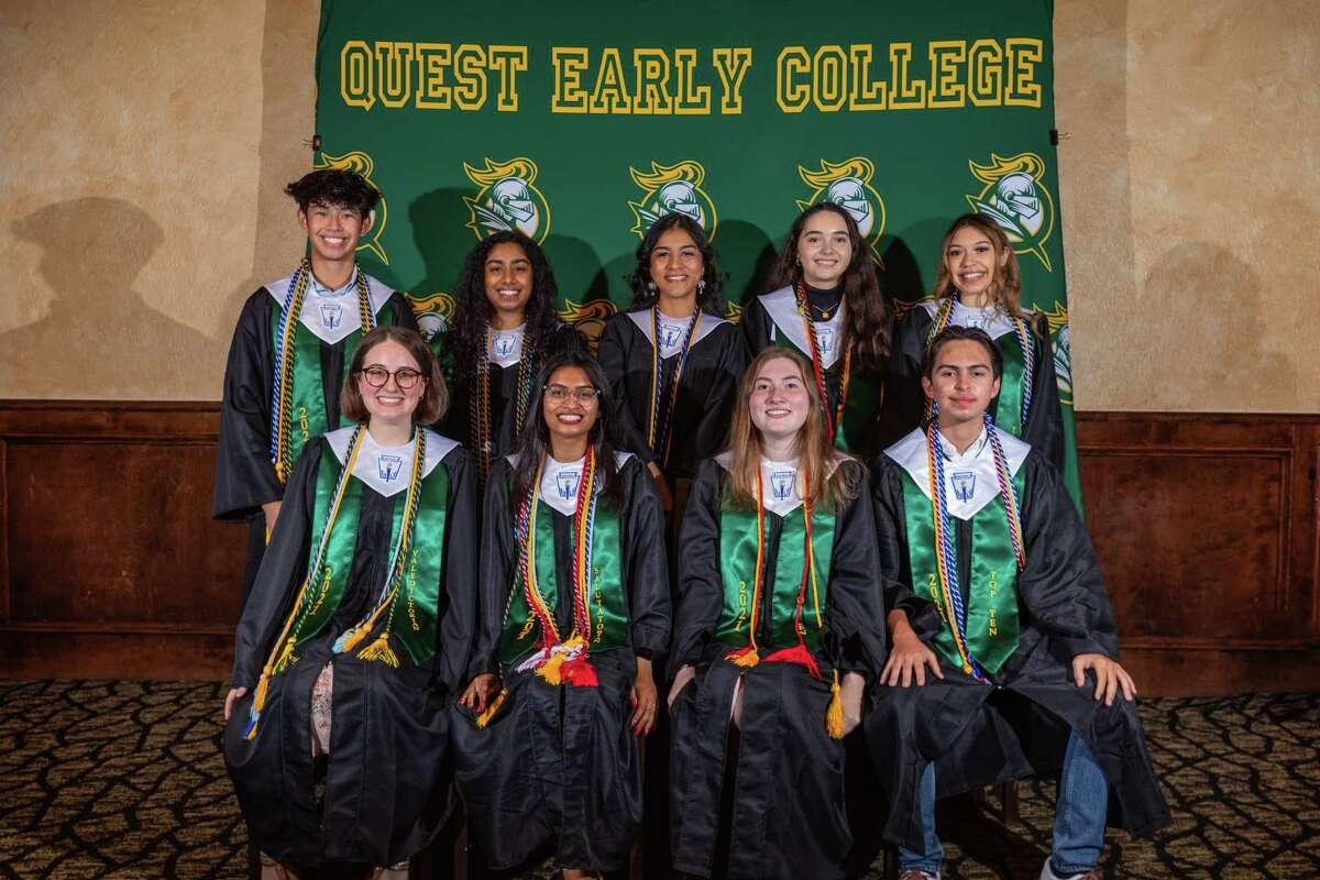 Front row (from left): Madison Busch, Sejal Gupta, Christa Foster, Thomas Rios.Back row (from left): Enrico Morales, Rebecca Mathew, Ximena Cardoza, Ioana Sandu, Jaylinne Sanchez.