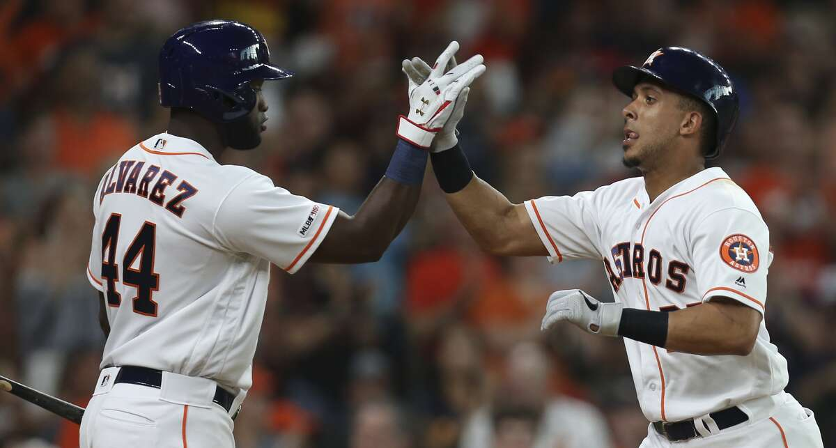Astros manager Dusty Baker said the Astros are still weighing whether or not to place Michael Brantley and Yordan Alvarez on the injured list, both of who are absent from Friday's lineup.