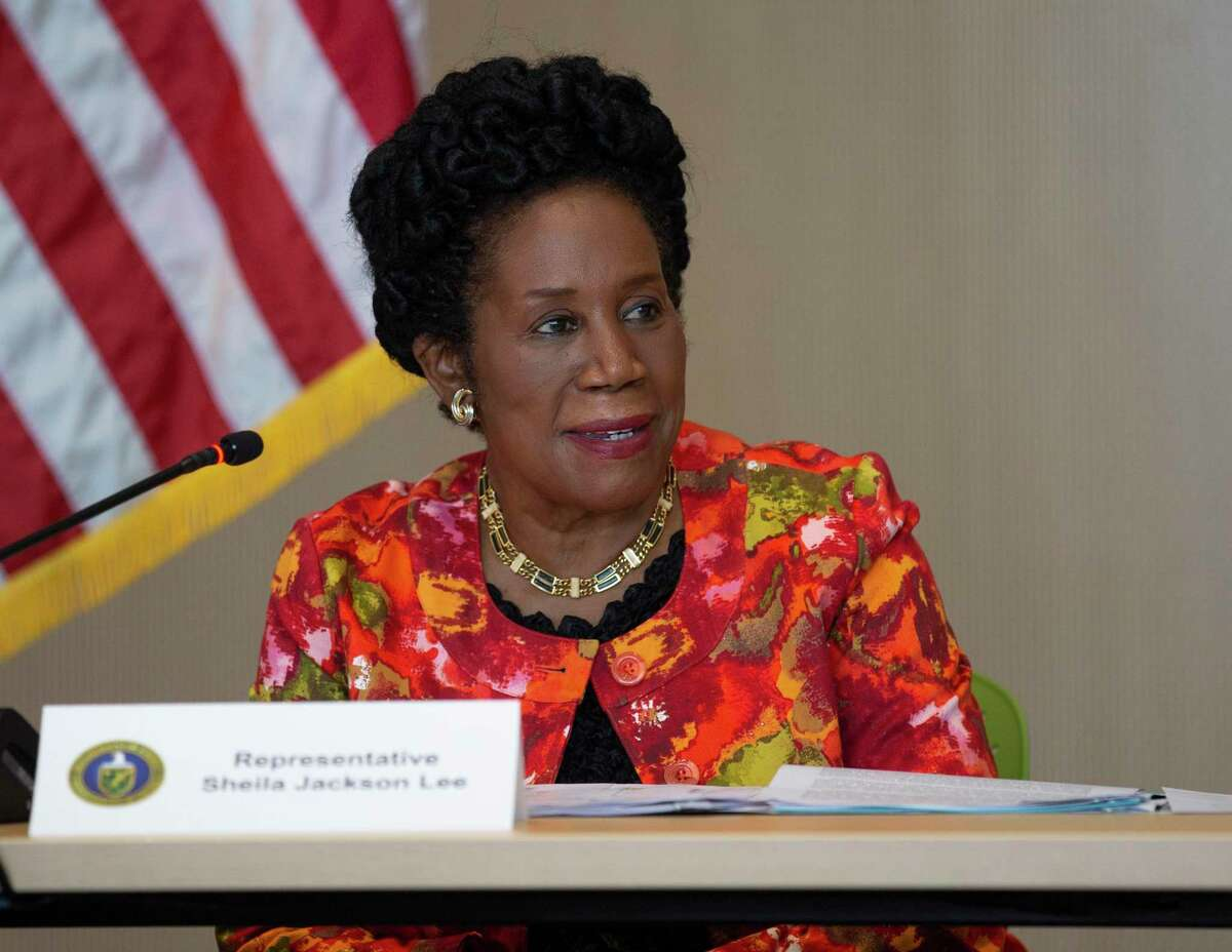 U.S. Rep. Sheila Jackson Lee speaks during a roundtable about advancing clean energy in Texas with U.S. Secretary of Energy Jennifer M. Granholm and Houston leaders Friday, May 28, 2021, at Greentown Lab in Houston.