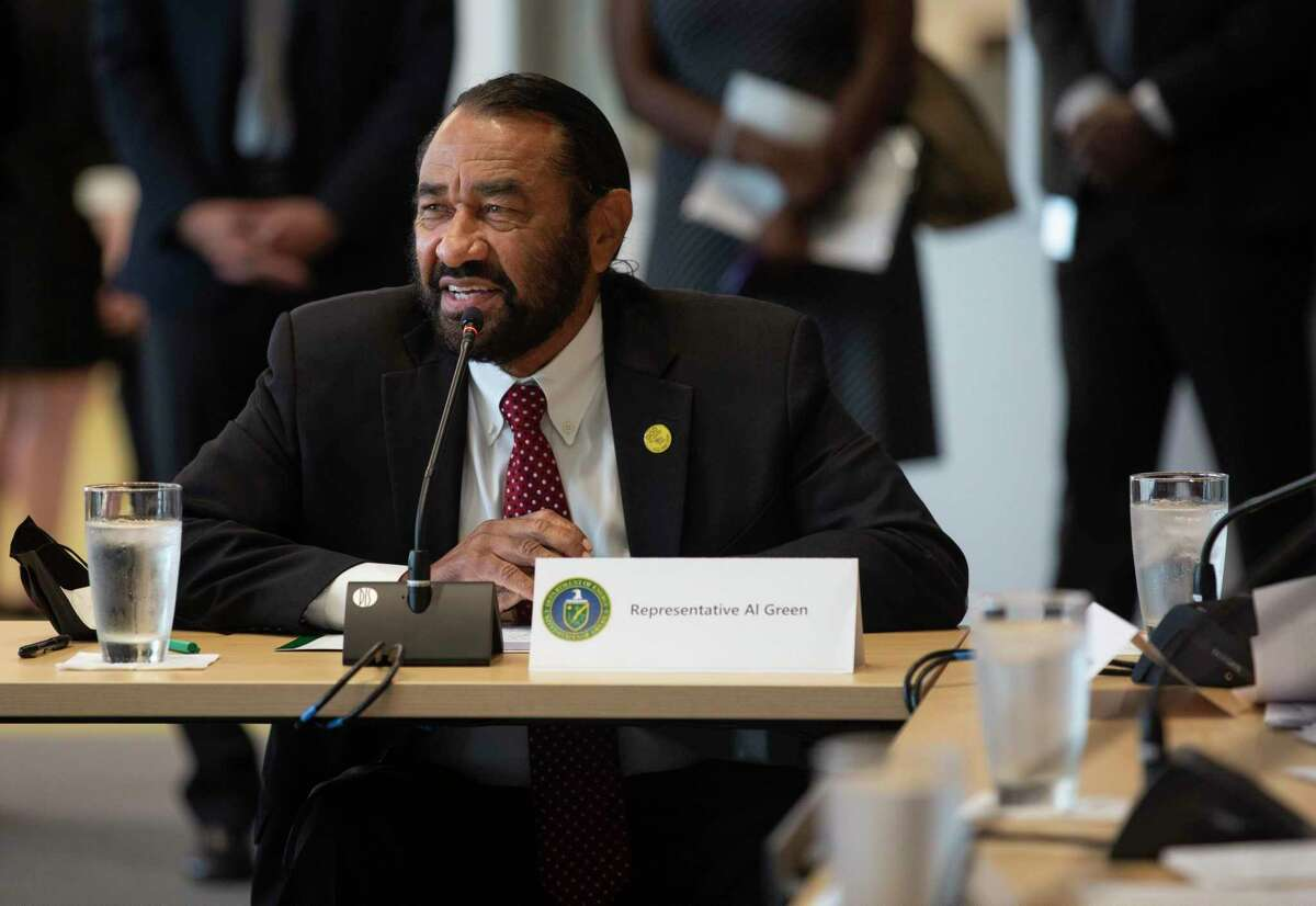 U.S. Rep. Al Green speaks during a roundtable about advancing clean energy in Texas with U.S. Secretary of Energy Jennifer M. Granholm and Houston leaders Friday, May 28, 2021, at Greentown Lab in Houston.