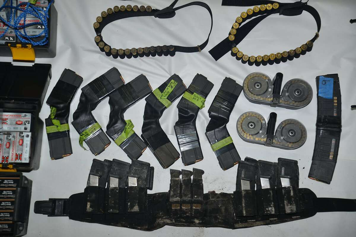 The Santa Clara County Sheriff's Office has released images of items found in the home of the suspect in the mass shooting at the Valley Transportation Authority in San Jose, which included 22,000 rounds of ammunition, 12 firearms, gasoline and suspected Molotov cocktails.