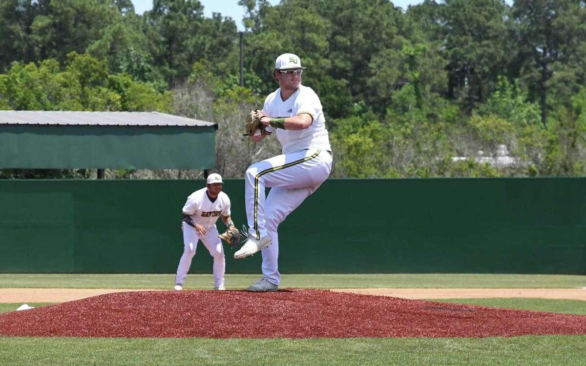 Freshman pitcher Matthew Tieding has helped San Jac to the junior college world series.