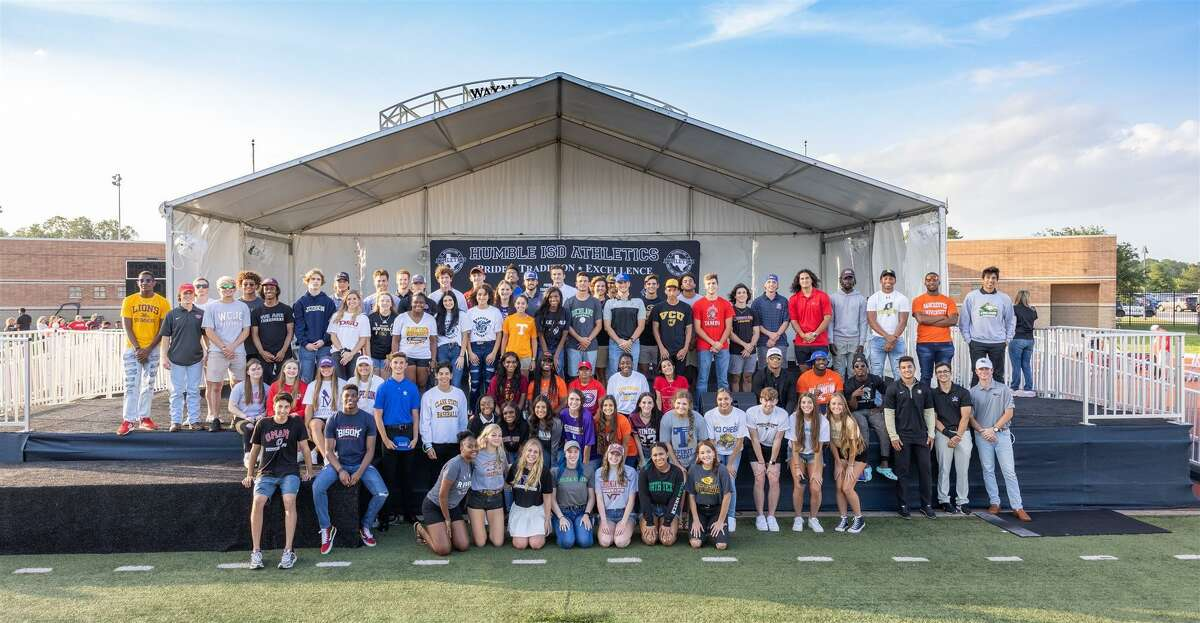 Over 100 student-athletes celebrated the opportunity to continue their education and playing careers in college with their family, friends and the community.