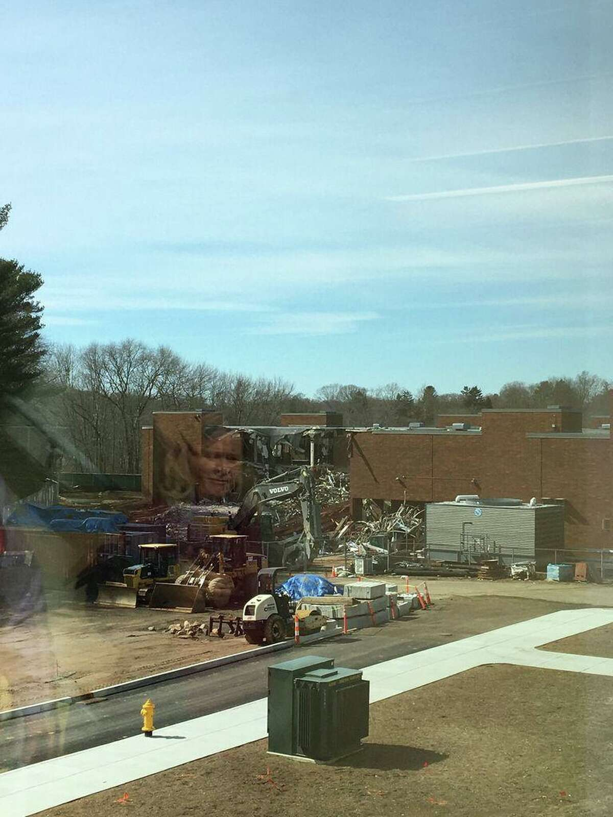 Work on the Walsh Intermediate School expansion and renovation project in March 2020.