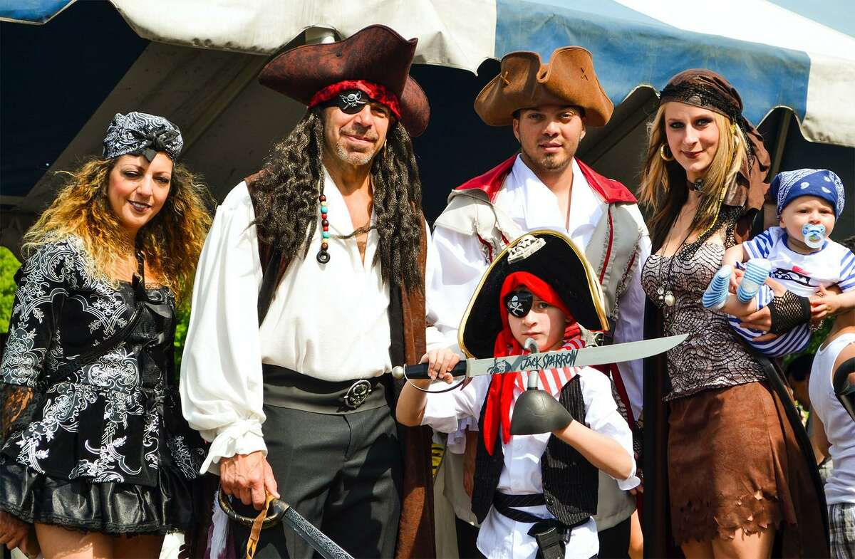 Volunteers dress as pirates for Pirate's Day