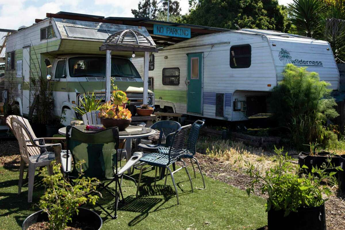 The Neighborship is a co-operative village, where a handful of people are living in RVs in a communal setting, in West Oakland, Calif.