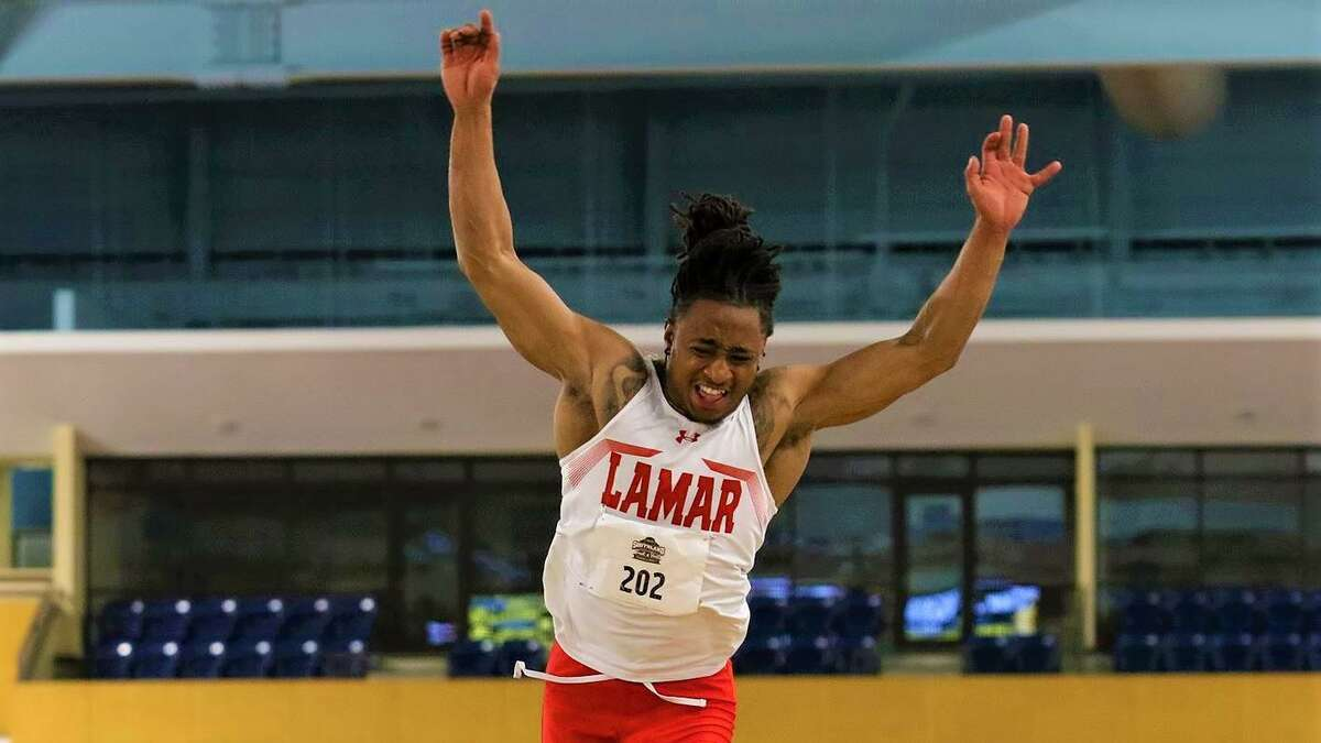 LU triple jumper Tylen Guidry, pictured last season, qualified on Friday for next month's NCAA championships in Eugene, Oregon.