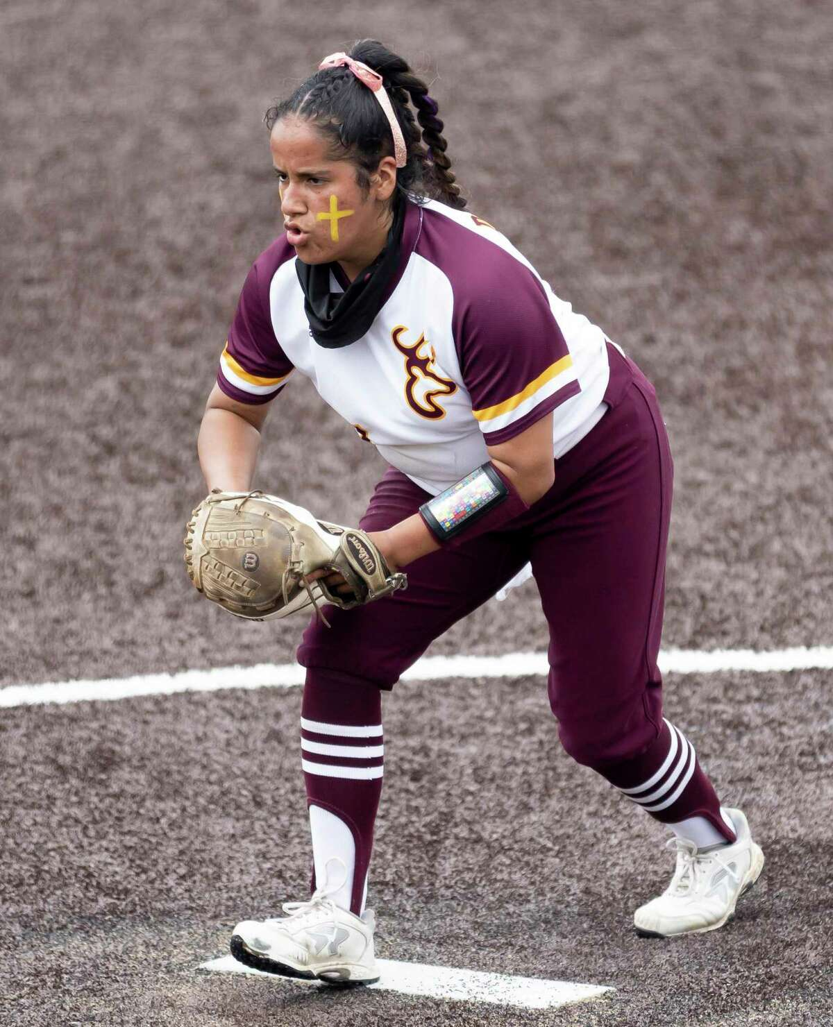 Deer Park pitcher Hannah Benavides took a perfect game into the seventh inning in shutting down Clear Springs Friday night. Her Lady Deer teammates provided the offense in a 9-1 victory.