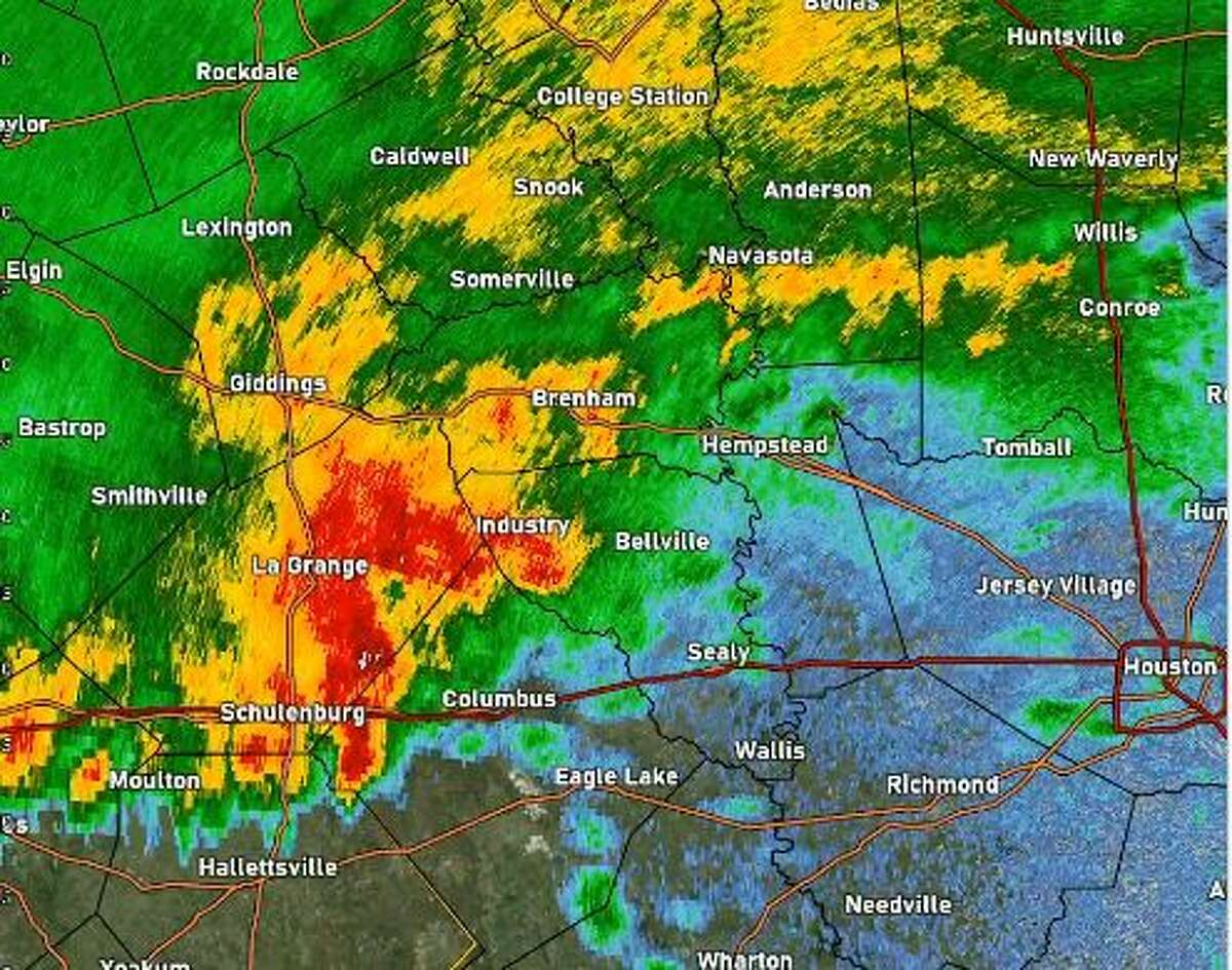 The National Weather Service has issued a severe thunderstorm watch northwest of Houston until 2 a.m.
