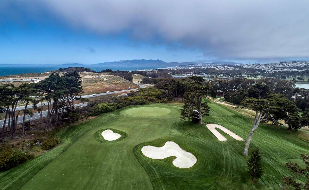 The first hole on the Olympic Club's Lake Course, a downhill par-5, offers players one of their few birdie chances in this week's U.S. Women's Open.
