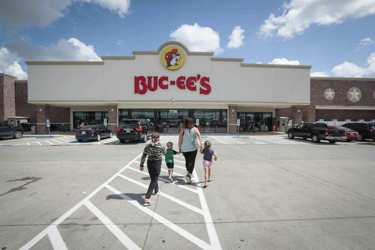 Customers approach a Buc-ee's in Katy on June 19, 2020.