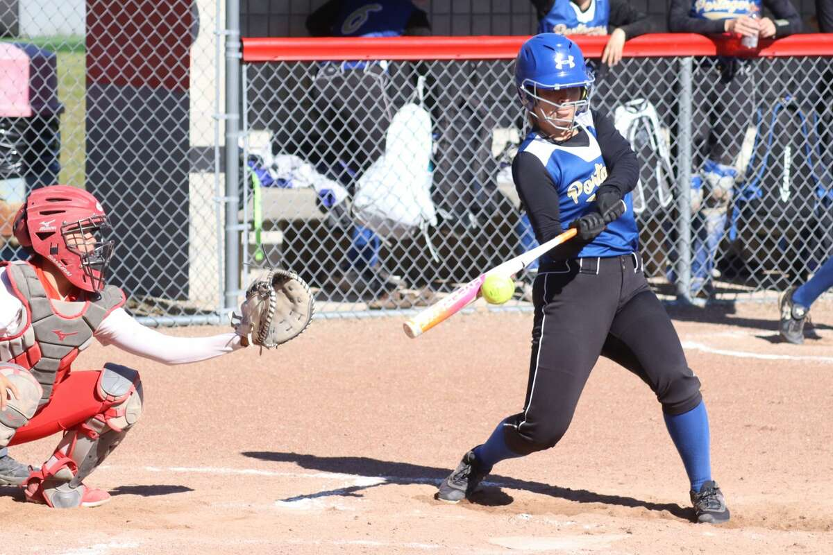 Benzie Central defeats Onekama in a softball doubleheader on May 28.