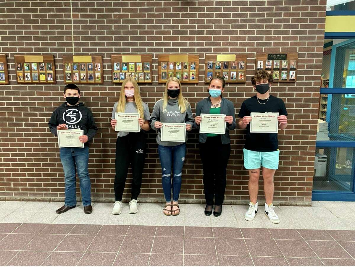 Bad Axe High School citizens of the month for May 2021. (Courtesy Photo)