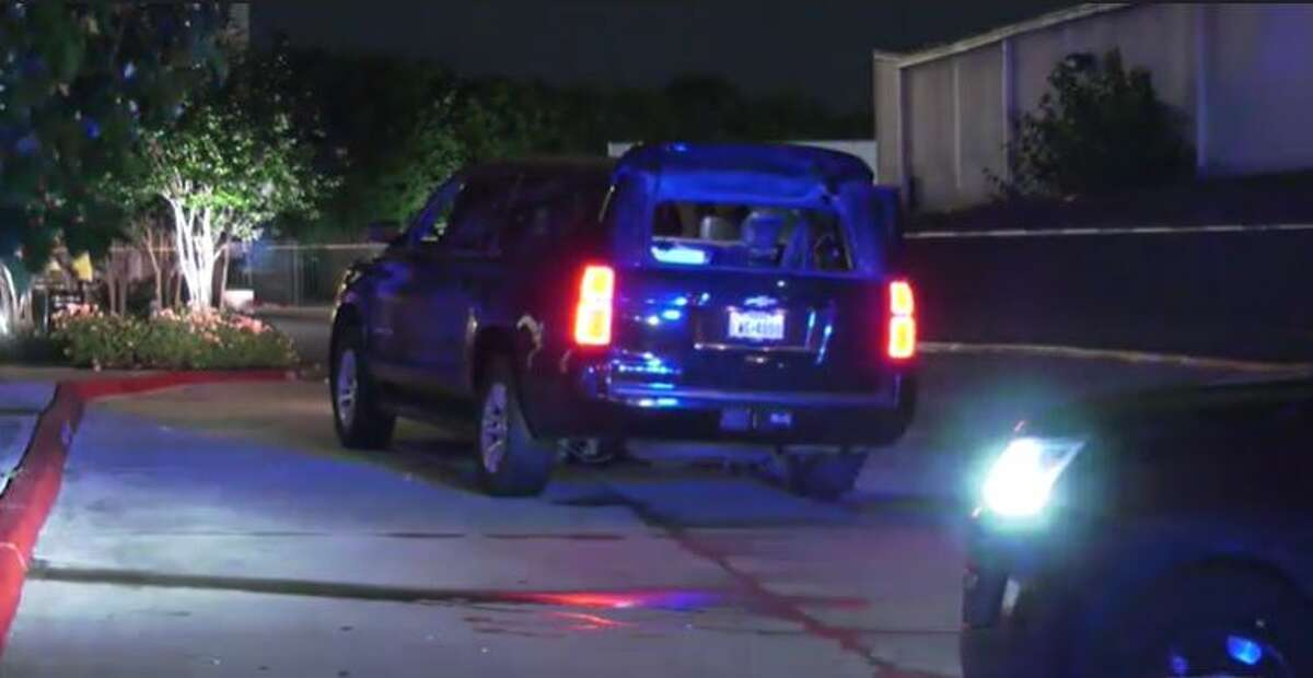 A black Chevy Suburban was shot at on the freeway early Saturday in Houston, police said, and a private limo driver was killed.