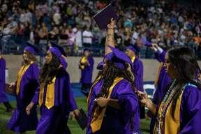 Scenes from Midland High School???s graduation Friday, May 28, 2021 at Grande Communications Stadium. Jacy Lewis/Reporter-Telegram