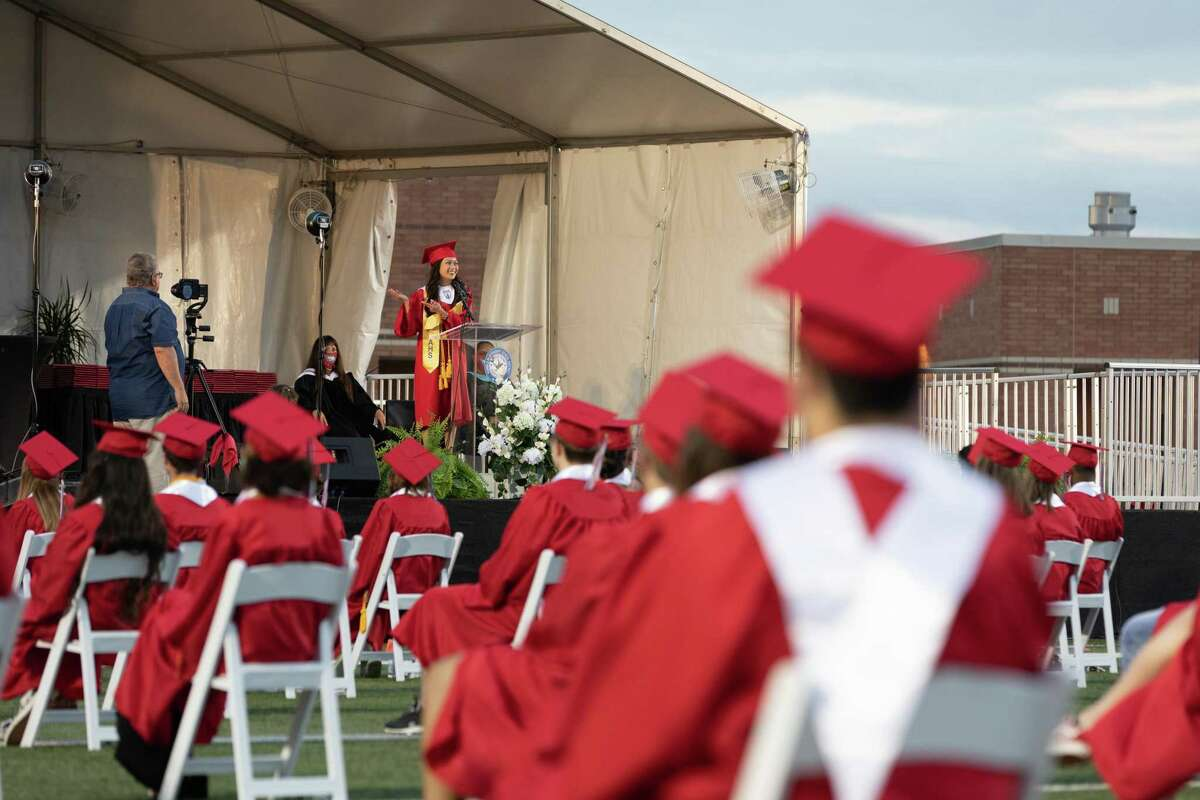 Atascocita High School graduated at Turner Stadium on July 24, 2020 as the next to last ceremony in Humble ISD. Speeches from student leaders included themes of resilience.