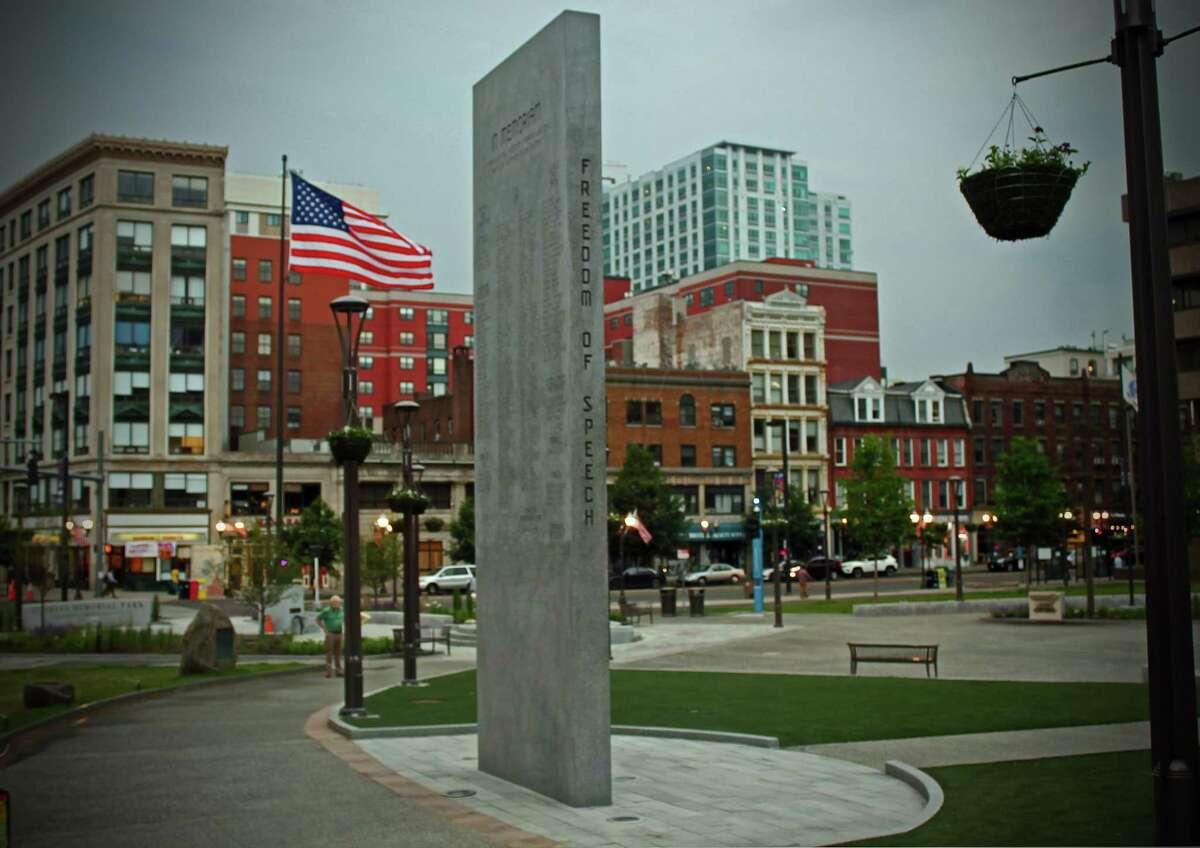 Veterans Memorial Park in Stamford