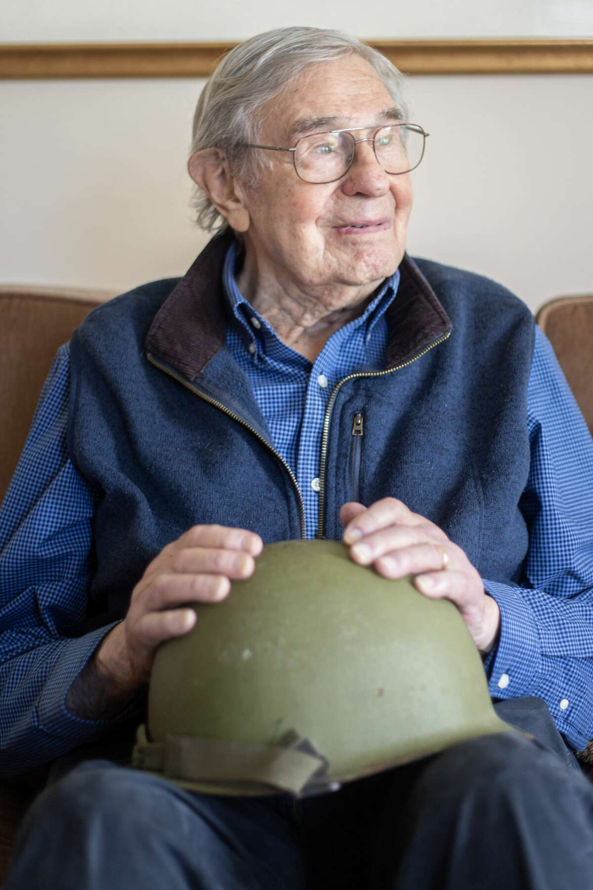 Bill Swetow is a 102-year-old World War II veteran from Ulster County who appears in a PSA urging vaccinations against COVID-19.