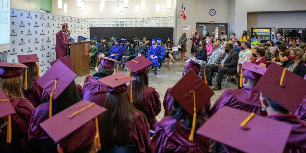 Klein ISD held a Clap Out ceremony honoring 76 graduates of the district's Vistas High School Program and Klein Success Academy.