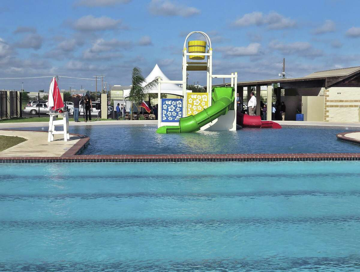 City of Laredo officials and some residents of the district were on hand Thursday morning for a ribbon cutting ceremony for the Bartlett Swimming Pool. The pool will be open to the public on weekends from 2-7 p.m.