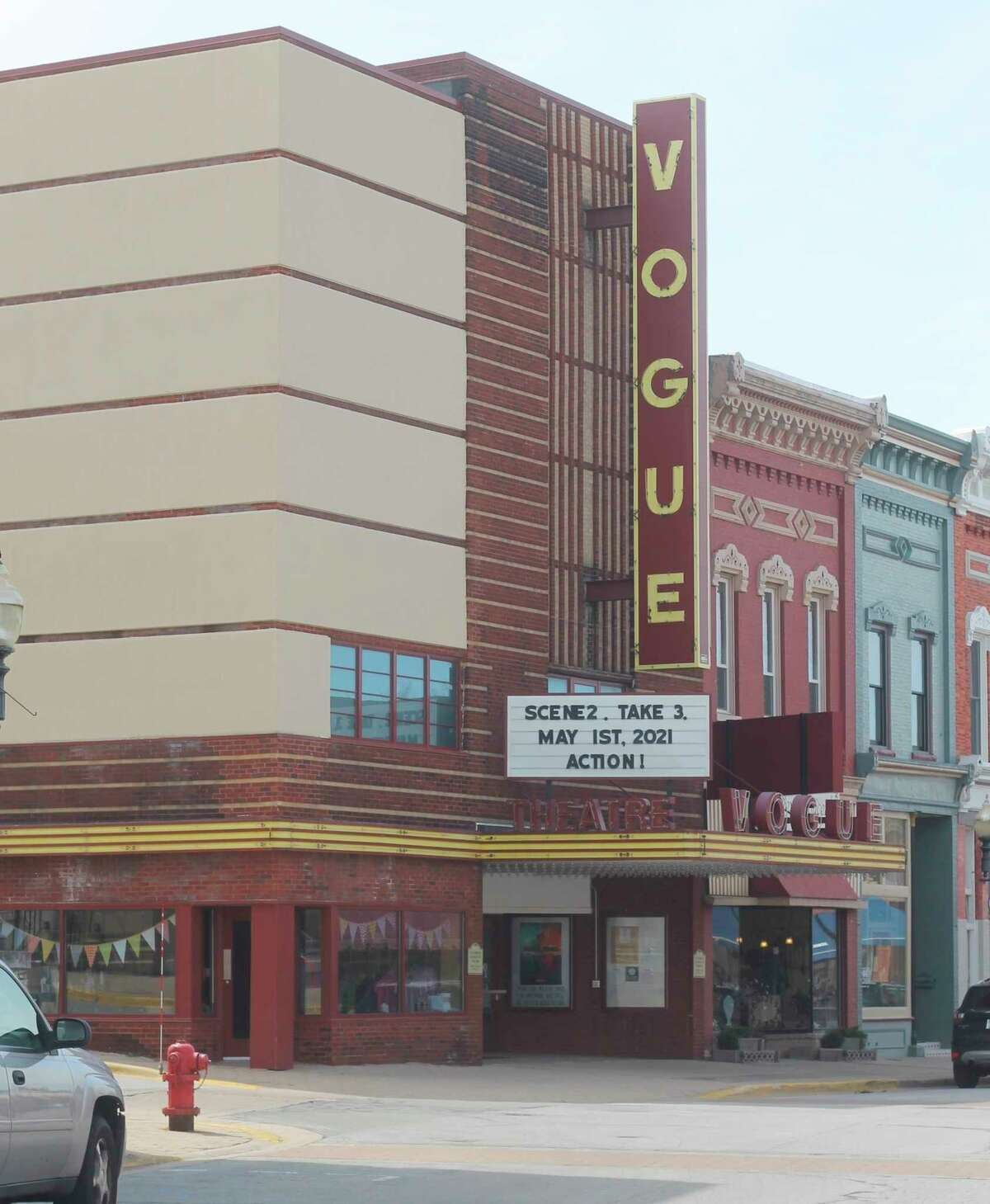 Manistee's Vogue Theatre boasts two screens. (File photo)