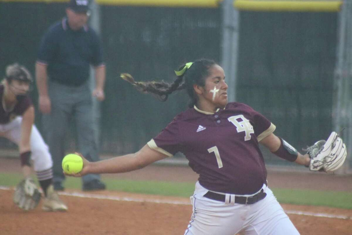 Hannah Benavides displays the form that allowed her to throw six perfect innings Friday night.