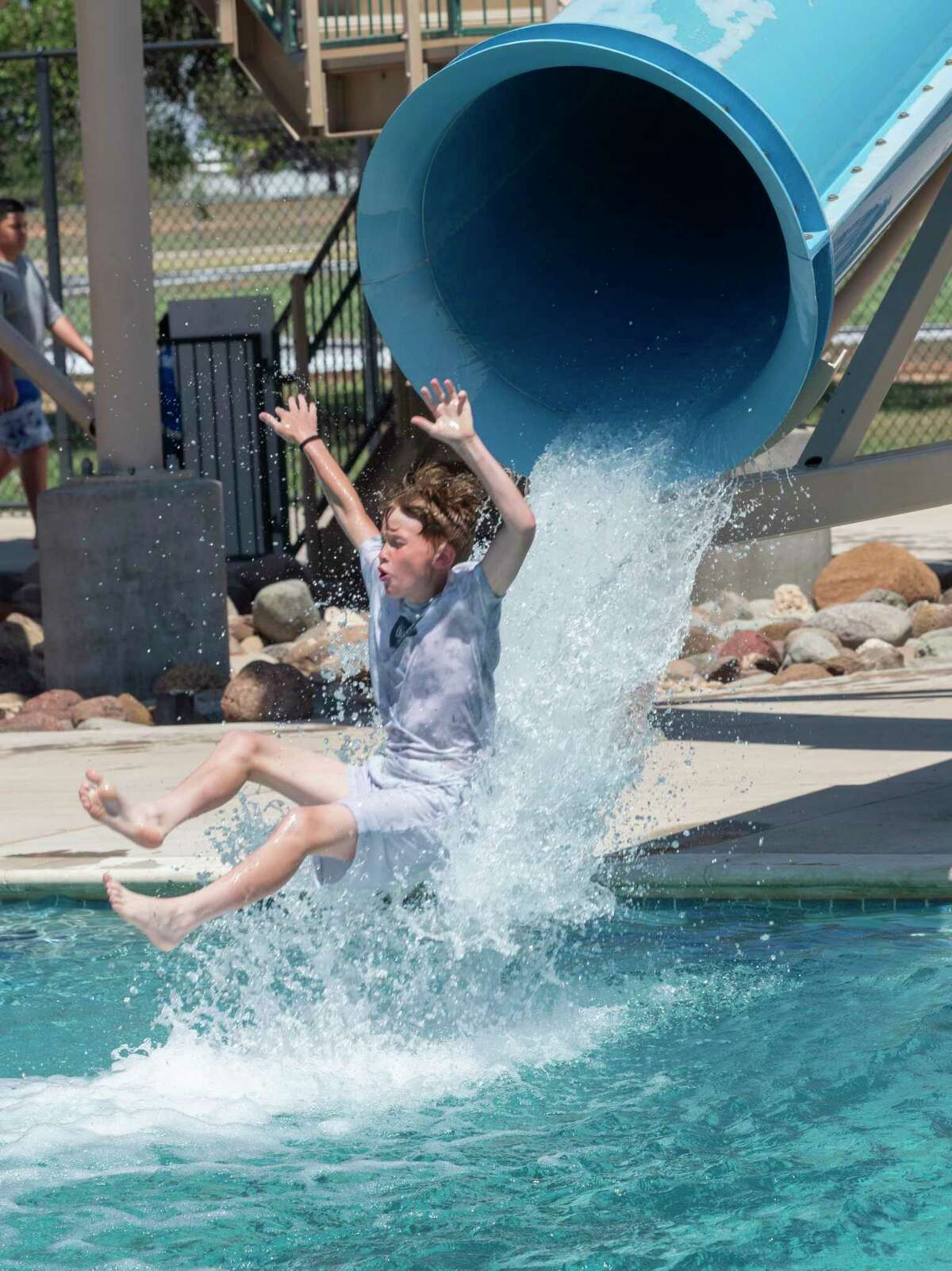 Midlanders take to the water 5/29/2021 at Doug Russell Aquatic Center during the opening of pools in Midland. Washington Aquatic Center is scheduled to open June 1st because of mechanical problems. Tim Fischer/Reporter-Telegram