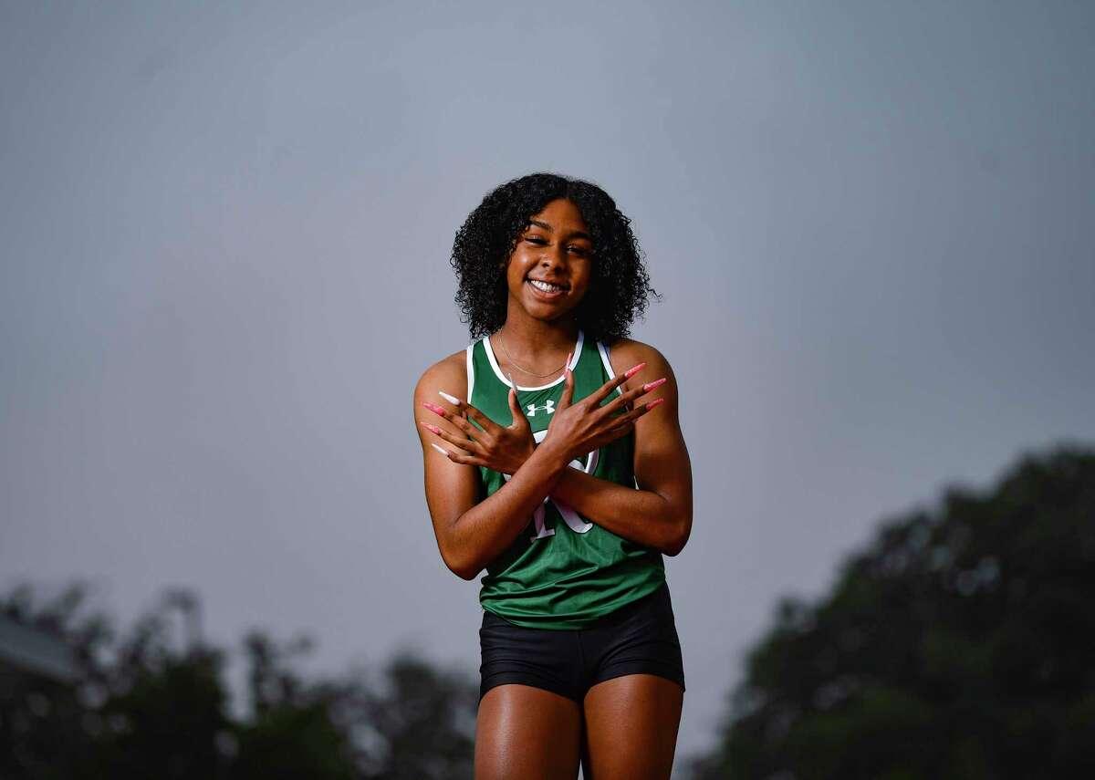 Reagan High School sprinter Jasmine Montgomery's track season was cut short by the coronavirus pandemic. She has signed to run for the University of Oregon.