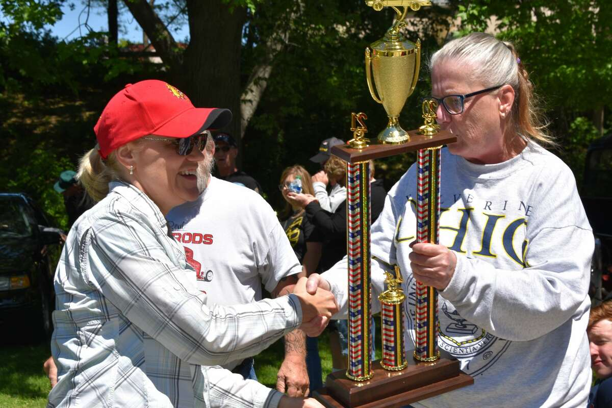 The River Valley Car Club hosted its 8th annual Veterans Car Show in Mitchell Creek Park in Big Rapids, which featured a selection of classic and modern cars and an awards ceremony for the top-prize winning owners.