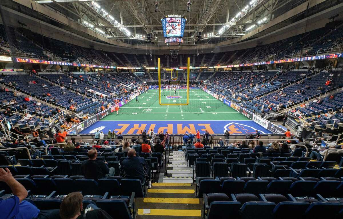 The Times Union Center in Albany New York hosted the opener of the National Arena League football game which featured the Albany Empire against the Columbus Lions on Saturday, May 29, 2021 (Jim Franco/Special to the Times Union)